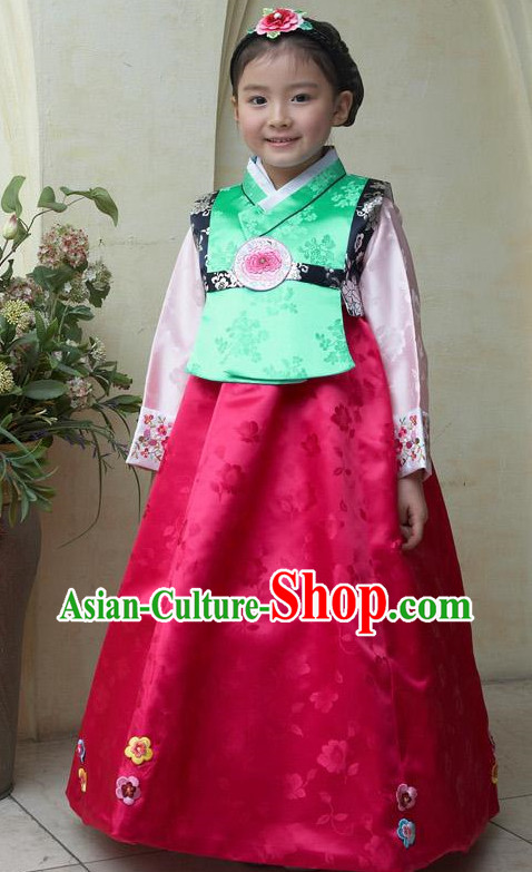 Traditional Korean Clothing Custom Made baby Dangwi Hanbok for Birthday Party Halloween