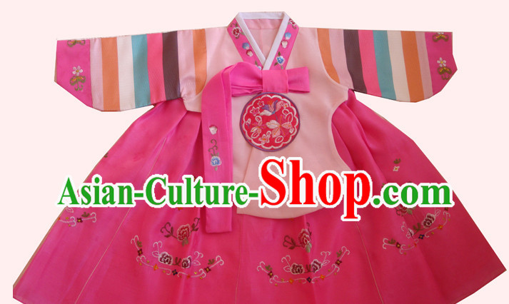 Traditional Korean Clothing Custom Made Girls Hanbok for Traditional Ceremony