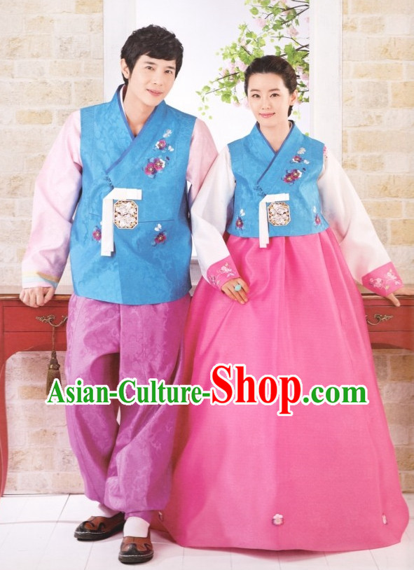 Korean Traditional Couple Hanbok Dress Ceremonial Clothing Korean Fashion Shopping online