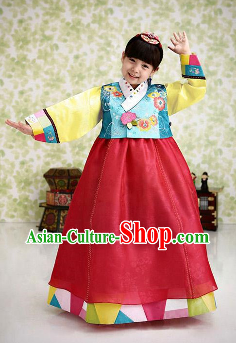 Korean Traditional Girl Hanbok Dress Ceremonial Clothing Korean Fashion Shopping online