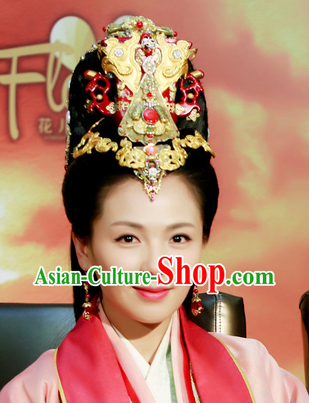 Chinese Han Dynasty Empress Hair Accessories and Earrings