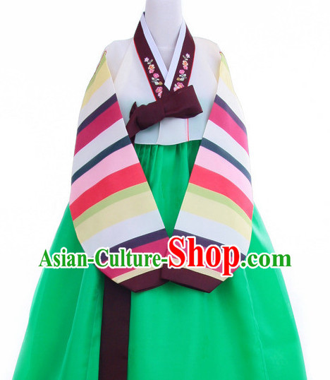 Top Korean Hanbok Dancing Costumes Girls Dancewear