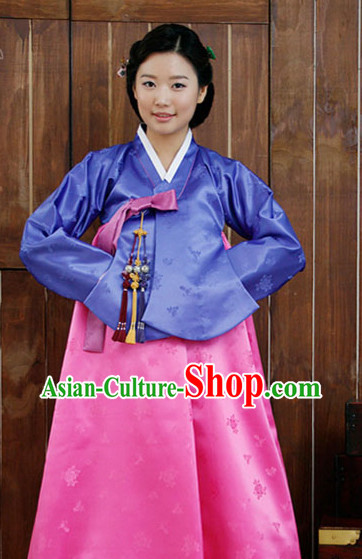 Top Korean Fashion Style Girl Dancewear Traditional Hanbok Clothing for Women