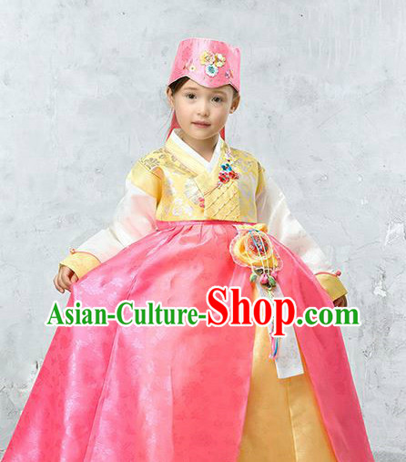 Korean Princess Hanbok and Hat for Girls