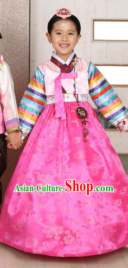 Top Traditional Korean Kids Fashion Kids Apparel Birthday Baby Clothes Kids Clothes for Girls