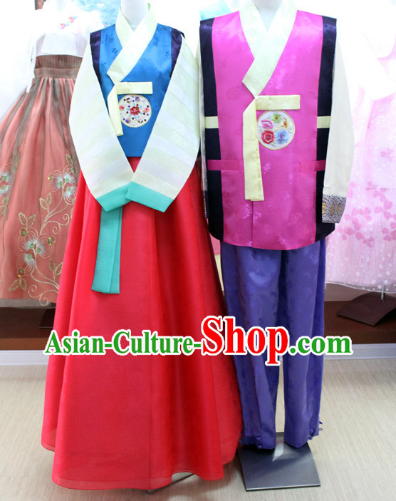 Korean Traditional Brides and Bridegroom Clothing Dress online Womens Clothes Designer Clothes