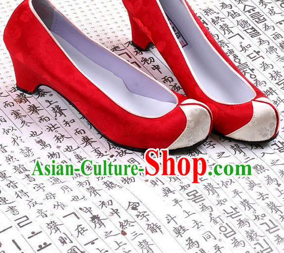 Korean Traditional High Heel Shoes for Women