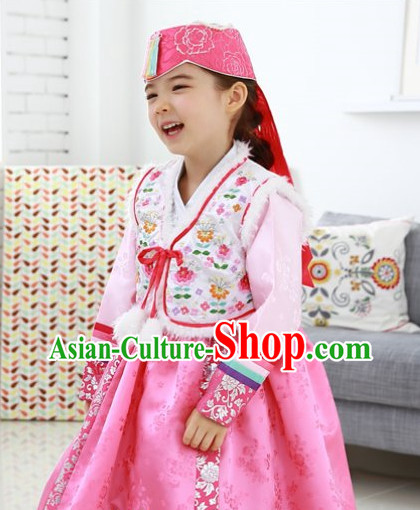 Top Korean Traditional Custom Made Birthday Princess Hanbok Complete Set for Girls