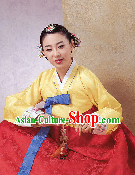 Top Korean Fashion Traditional Hanbok Clothes Complete Set for Ladies