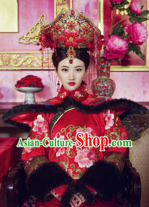 Chinese Empress Wedding Headwear Hair Jewellery Set