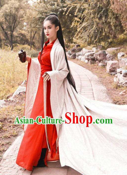 Chinese Traditional Swordswomen Costumes Complete Set