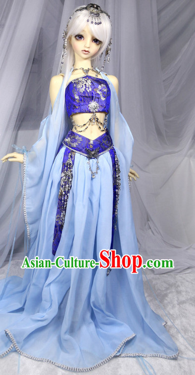 Asian Halloween Costumes Purple Costume for Ancient Chinese Fairies