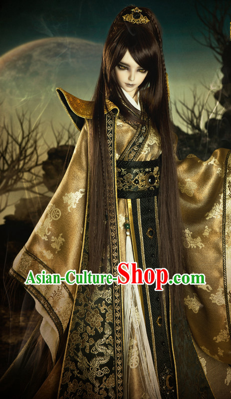 Chinese Prince High Shoulder Costumes Top China Fashion Halloween Asia Fashion