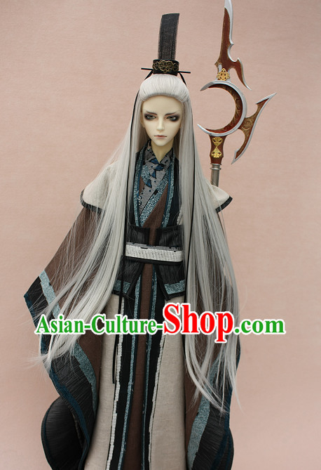 Asian Fashion Chinese Black Hanfu Dresses for Men
