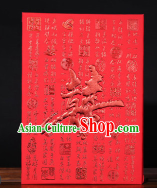 Chinese Traditional Wedding Guest Signatures Cloth Book