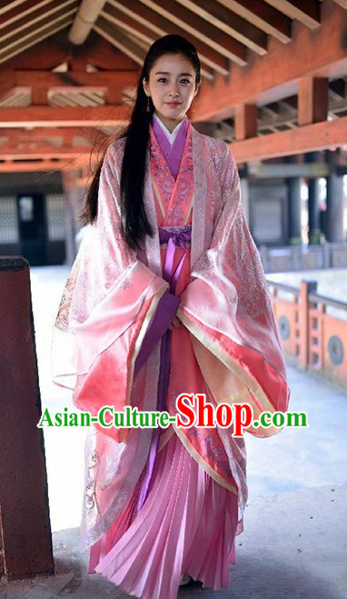 Chinese Traditional Princess Clothing Complete Set for Women