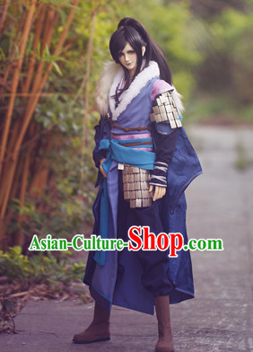 Chinese Traditional General Costumes and Hair Accessories Complete Set