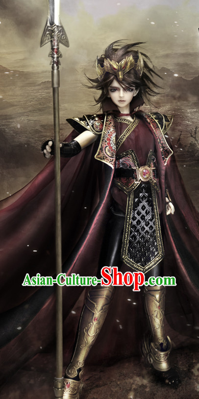 Asian Fashion Chinese Solider Cosplay Costumes and Headwear