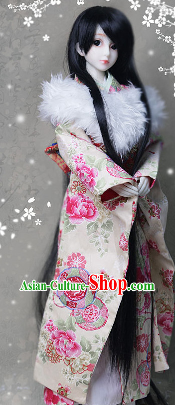 Asian Fashion Chinese Noblewomen Cosplay Costumes and Long Wig
