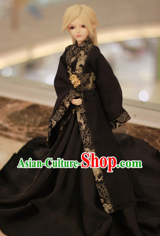 Asian Fashion Traditional Chinese Black Costumes for Men