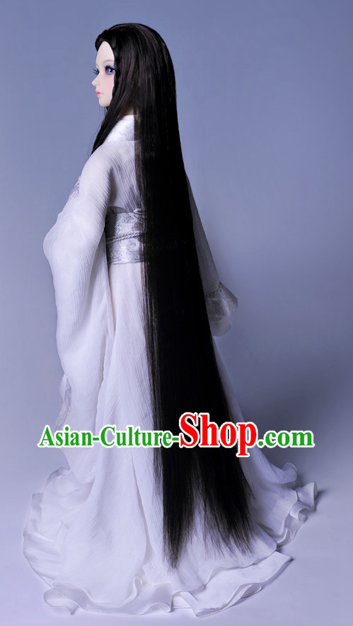 Asian Fashion Traditional Chinese Long White Hanfu Dresses for Men