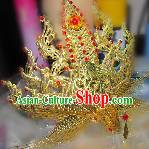 Chinese Traditional Handmade Wedding Phoenix Hair Clasp