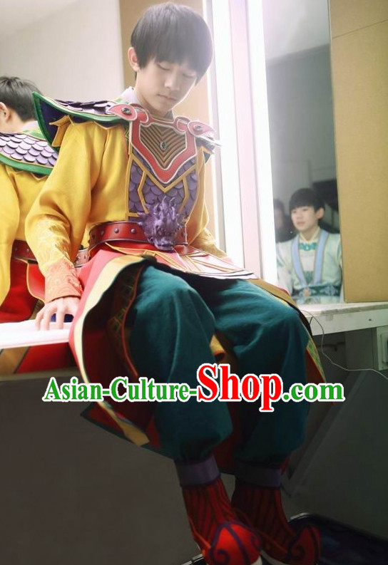 Asian Fashion Traditional Chinese Knight Costumes for Men