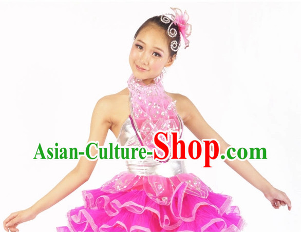 Chinese Ballerina Costume Contemporary Costumes and Headwear for Women