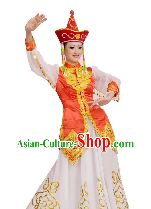 Mongolian Ethnic China Nationality Group Costumes for Women