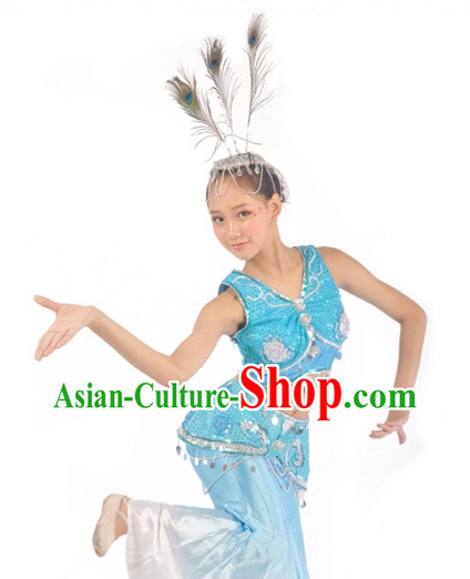China Shop Chinese Peacock Dance Costumes Dancewear Complete Set for Women