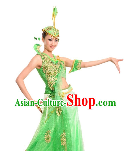 China Shop Chinese Peacock Dance Costumes Girls Dancewear for Women