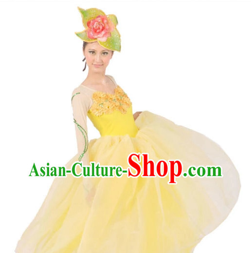 China Shop Chinese Peony Dance Attire for Women