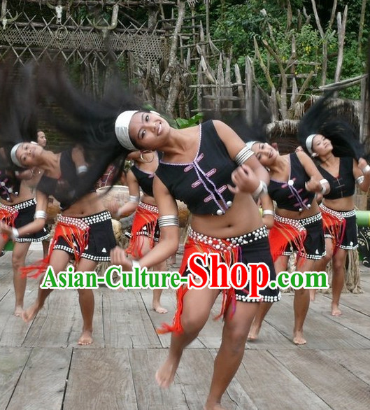 Custom Made Chinese Ethnic Group Dance Costumes for Women