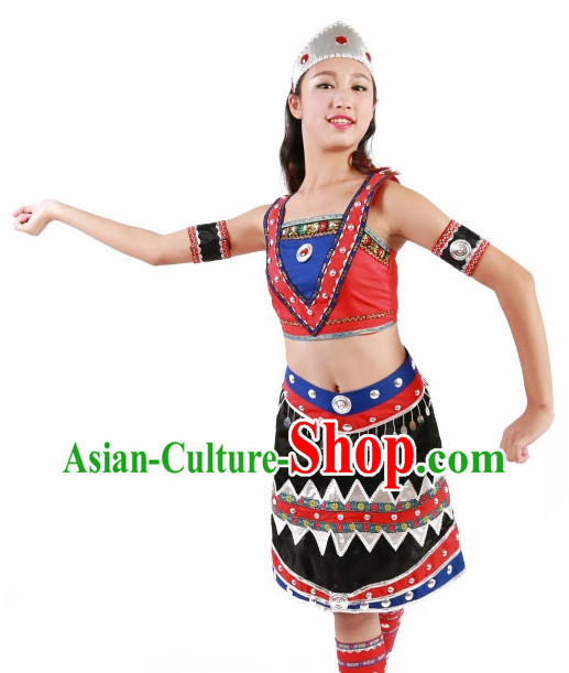 Custom Made Chinese Ethnic Group Dance Costumes Team Dance Costumes for Women