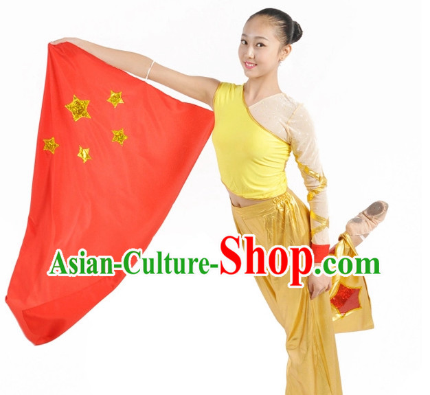 Custom Made Chinese Flag Dance Costumes for Teenagers