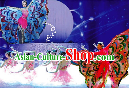 Professional Chinese Stage Performance Butterfly Dance Costumes for Women