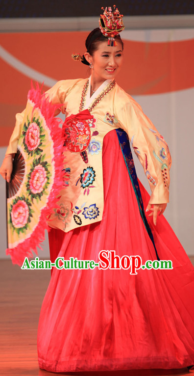 Professional Chinese Korean Ethnic Dance Costumes for Women