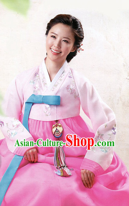 Korean Traditional Mother of the Bride Dress Hanbok Complete Set