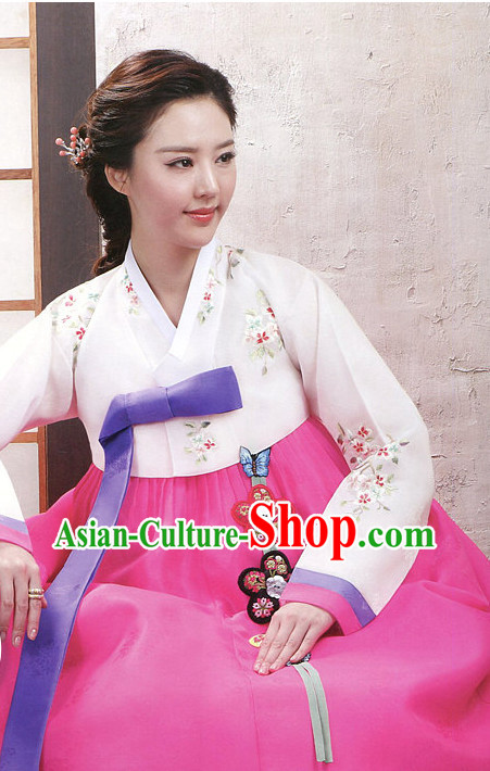 Korean Traditional Mother of the Bride Dress Hanbok Clothes Complete Set