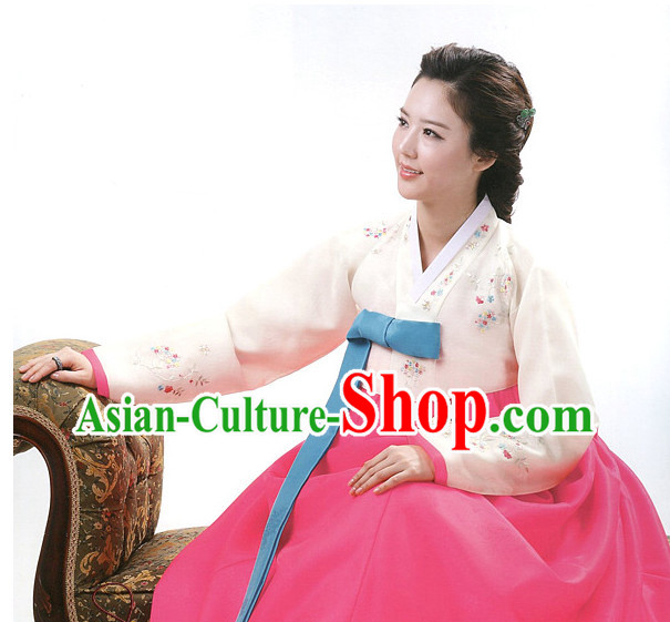 Korean Traditional Mother of the Bride Dresses Hanbok Clothes Complete Set
