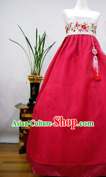 Top South Korean Bridal Brides Hanbok Wedding Dress Complete Set
