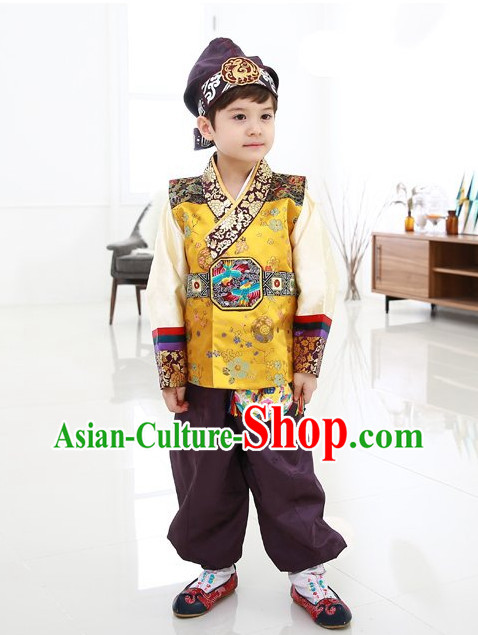 Traditional Korean Boys Kids Hanbok Clothes Complete Set