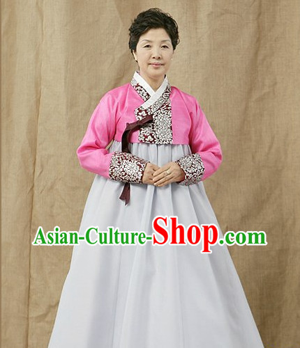 Korean Fashion Traditional Mother Dress Complete Set for Women