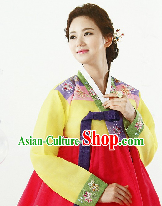 Korean Fashion Traditional Mother Dresses Complete Set for Women