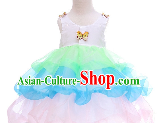 Korean Women Fashion Traditional Hanbok Stage Performance Kids Costumes Complete Set