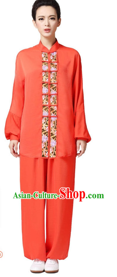 Top Asian Chinese Tai Chi Short Sleeved Uniform