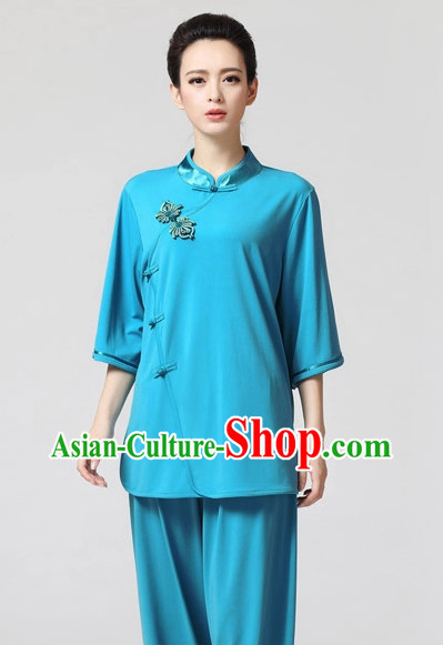 Top Asian Chinese Tai Chi Short Sleeves Uniform
