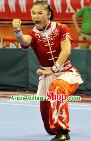 Top Asian Chinese Southern Fist Qi Gong Yoga Short Sleeved Uniform for Women