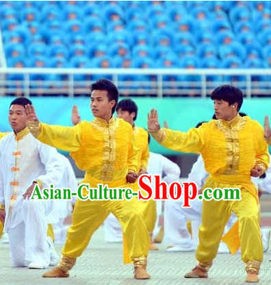 Top Asian Chinese Martial Arts Qi Gong Yoga Long Sleeved Uniform for Men