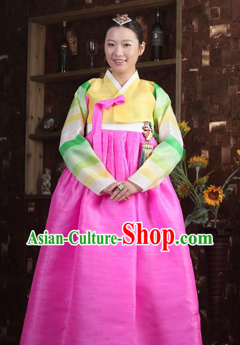 Top Korean Traditional Hanbok Birthday Ceremonial Cloth Complete Set for Women